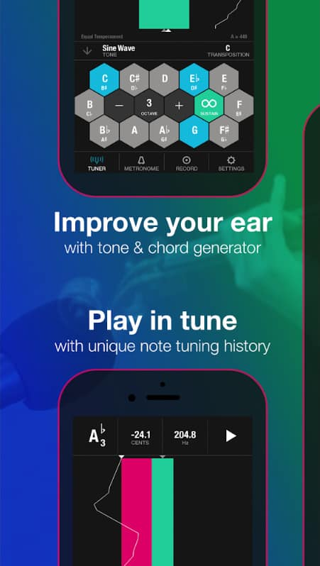 the tunable app will help budding rappers stay in tune, among other things.