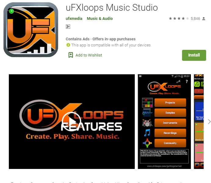 uFXloops music studio is an awesome app for rappers that want to record without the expense of a studio.