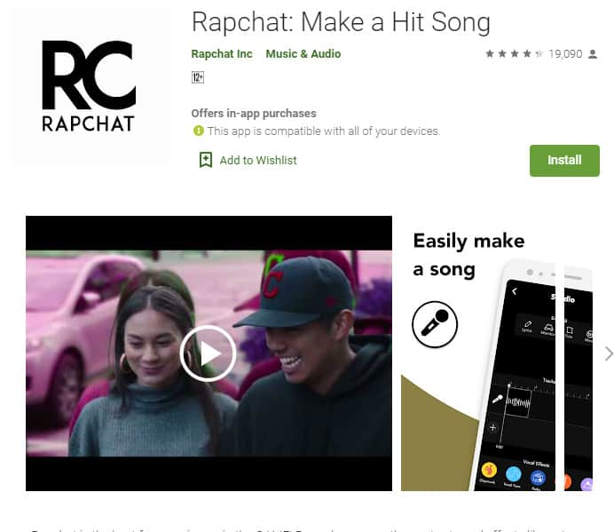 Rapchat allows budding rappers to easily get their work out there.