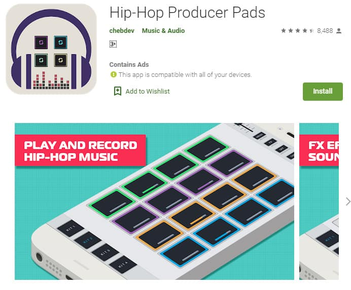 compose hip hop tracks in minutes with this app Hip Hop Producer Pads.