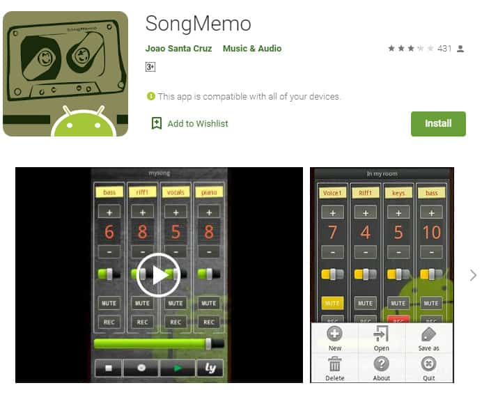 SongMemo is a great app that rappers can use to get their first ideas for a song recorded.