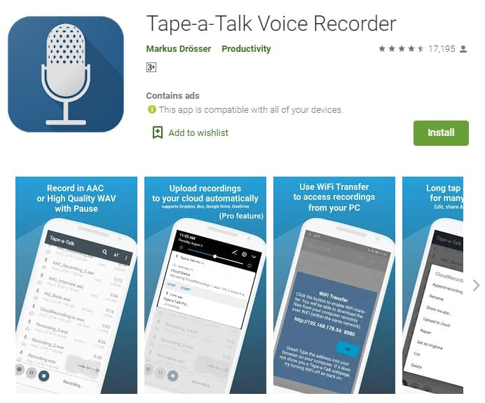Tape a talk voice recorder is a free app that will allow you to easily record high quality rap vocals.
