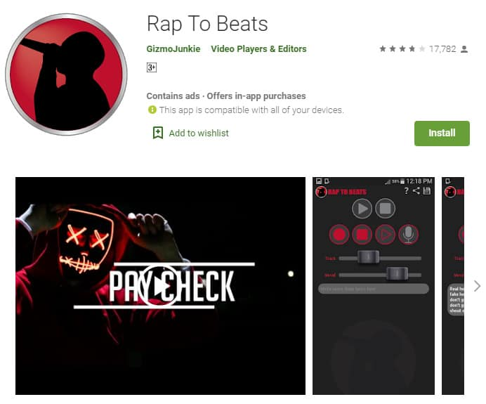 This app is everything you need to make a new rap song.