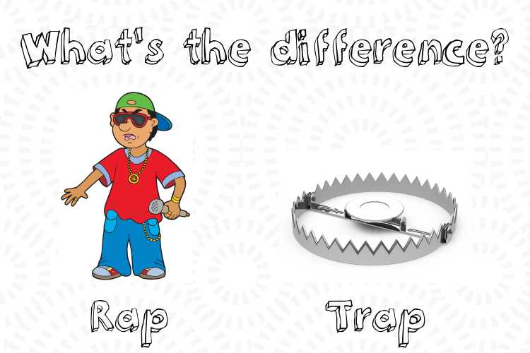 whats the difference between rap and trap
