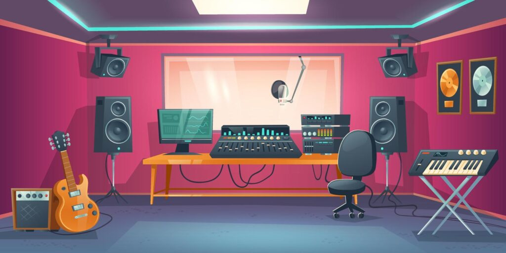 how to make a voice acting studio.
